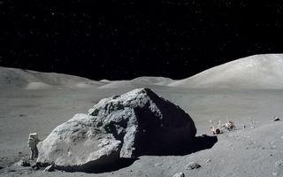 Фото бесплатно луна, астронавт, исследуют, метеорит, поверхность луны, космос