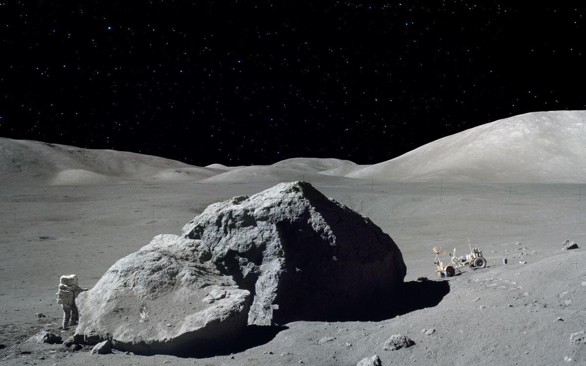 Фото бесплатно луна, астронавт, исследуют - на рабочий стол