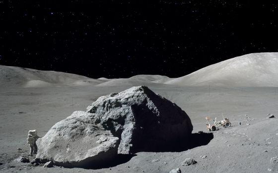 Фото бесплатно луна, астронавт, исследуют