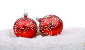 Обои шарики, новогодние, christmas, new year, рождество, праздник, новый год