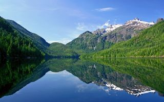 Photo free river, mountains, hills