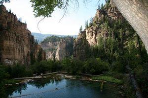 Фото бесплатно озеро, горы, мостик