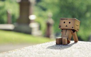 Фото бесплатно картон, картонный человечек, глаза