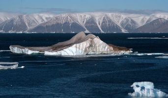 Фото бесплатно айсберг, лід, сніг, вода, океан, пливе, білий, небо