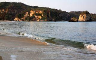 Бесплатные фото берег,песок,море,волна,утес,деревья,кустарник