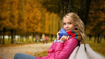 Фото бесплатно блондинка, глаза, губы