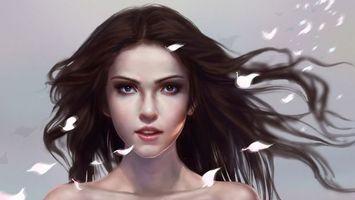 Фото бесплатно девушки, пряди, лицо