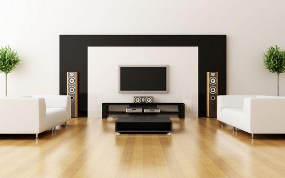 Photo free sofas, white, table