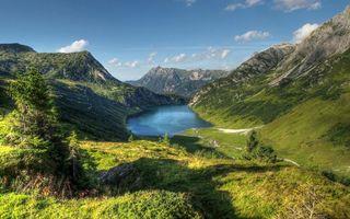 Бесплатные фото долина,озеро,горы,деревья,трава,небо,природа