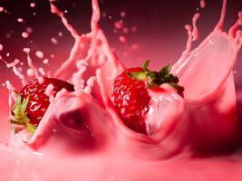 Фото бесплатно еда, малина, молоко