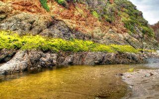 Бесплатные фото гора,камень,холм,мох,трава,растения,вода