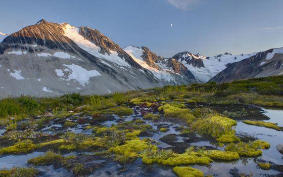 Photo free sky, mountains, slopes
