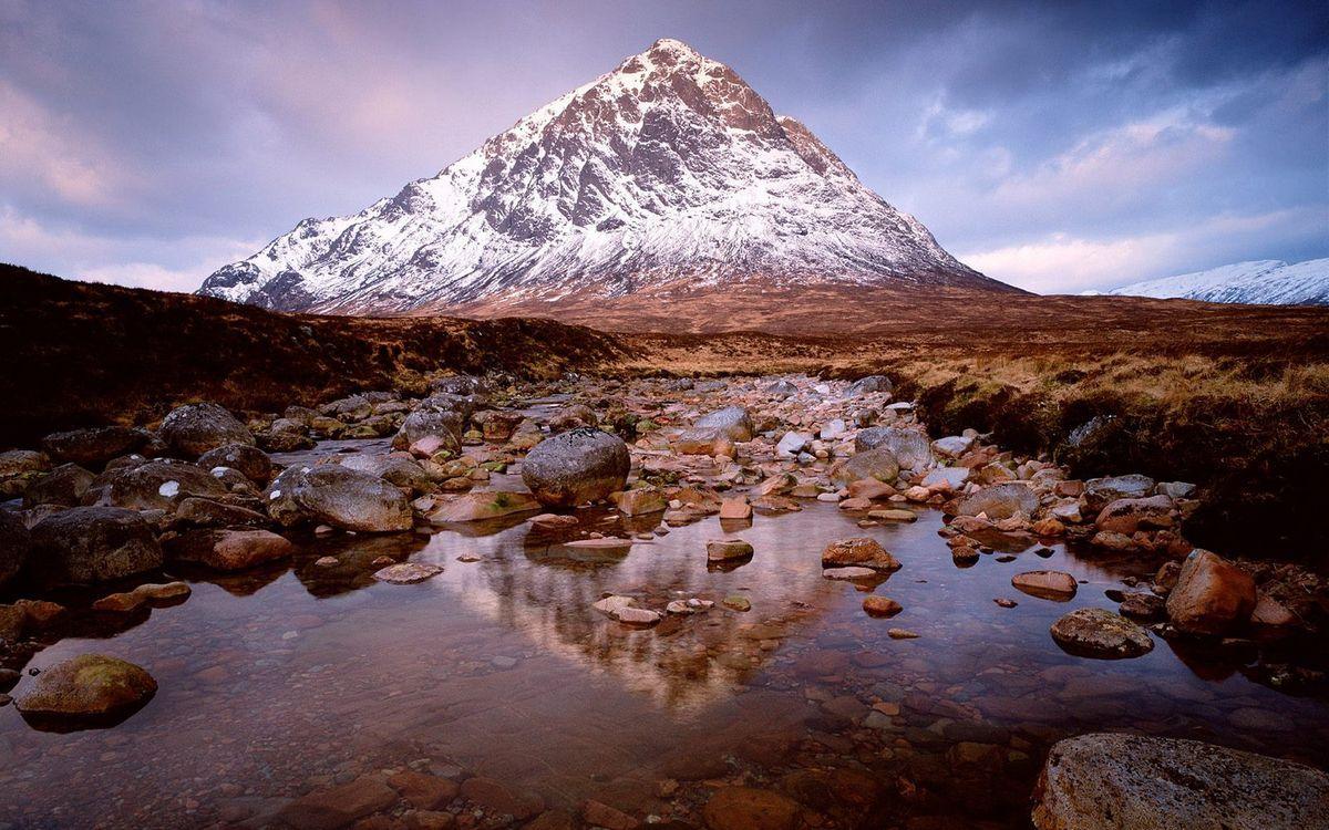 Фото бесплатно горы, трава, высота, скалы, камни, небо, облака, вода, природа, природа