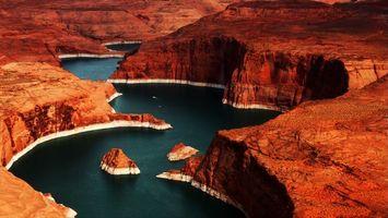 Фото бесплатно каньон, вода, река, горы, скалы, пустыня, пейзажи