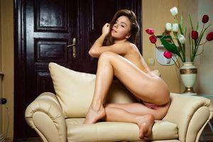 Заставки киска, попка, обнаженная, cute, flowers, chair, lily c, privatus, эротика