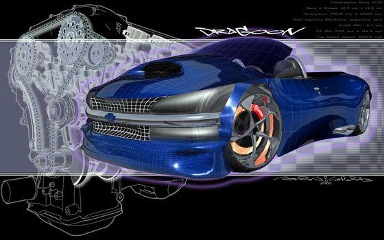 Бесплатные фото крейслер,синий,необычный,диски,прототип,кабриолет,машины