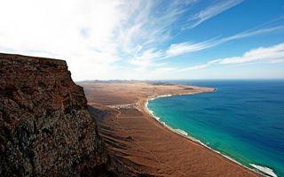 Фото бесплатно песок, море, горы
