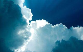 Заставки небо, голубое, облака, воздух, ветер, свет, лучи