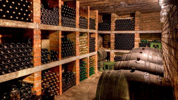 Photo free cellar, barrels, wine