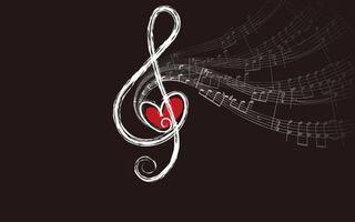 Заставки Сердечки и музыка, нота