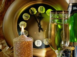 Photo free Champagne, glass, candle