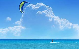 Бесплатные фото скайсерфинг,парашют,ветер,море,серф доска,серфер,спорт