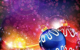 Бесплатные фото украшение,шары,блеск,блики,снег,зима,новый год