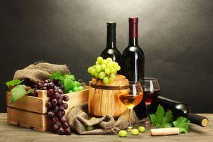 Бесплатные фото вино,виноград,бочка,бокалы