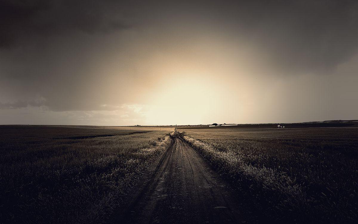 Фото бесплатно свет, дорога, небо, природа, трава, поле, пейзаж, солнце, разное