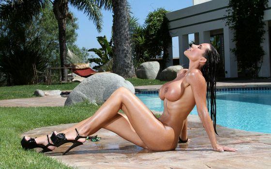 Фото бесплатно девушка, тело, басейн, эротика
