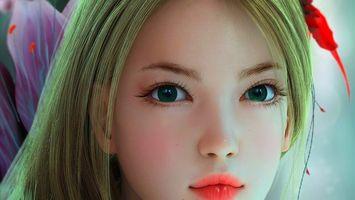 Бесплатные фото девушка,волосы,прическа,глаза,ресницы,губы,нос