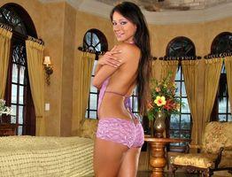 Фото бесплатно девушка, розовое, нижнее белье