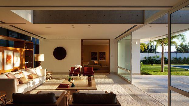 Заставки гостиная, диван, лампа