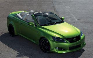 Фото бесплатно lexus, кабриолет, зелёный