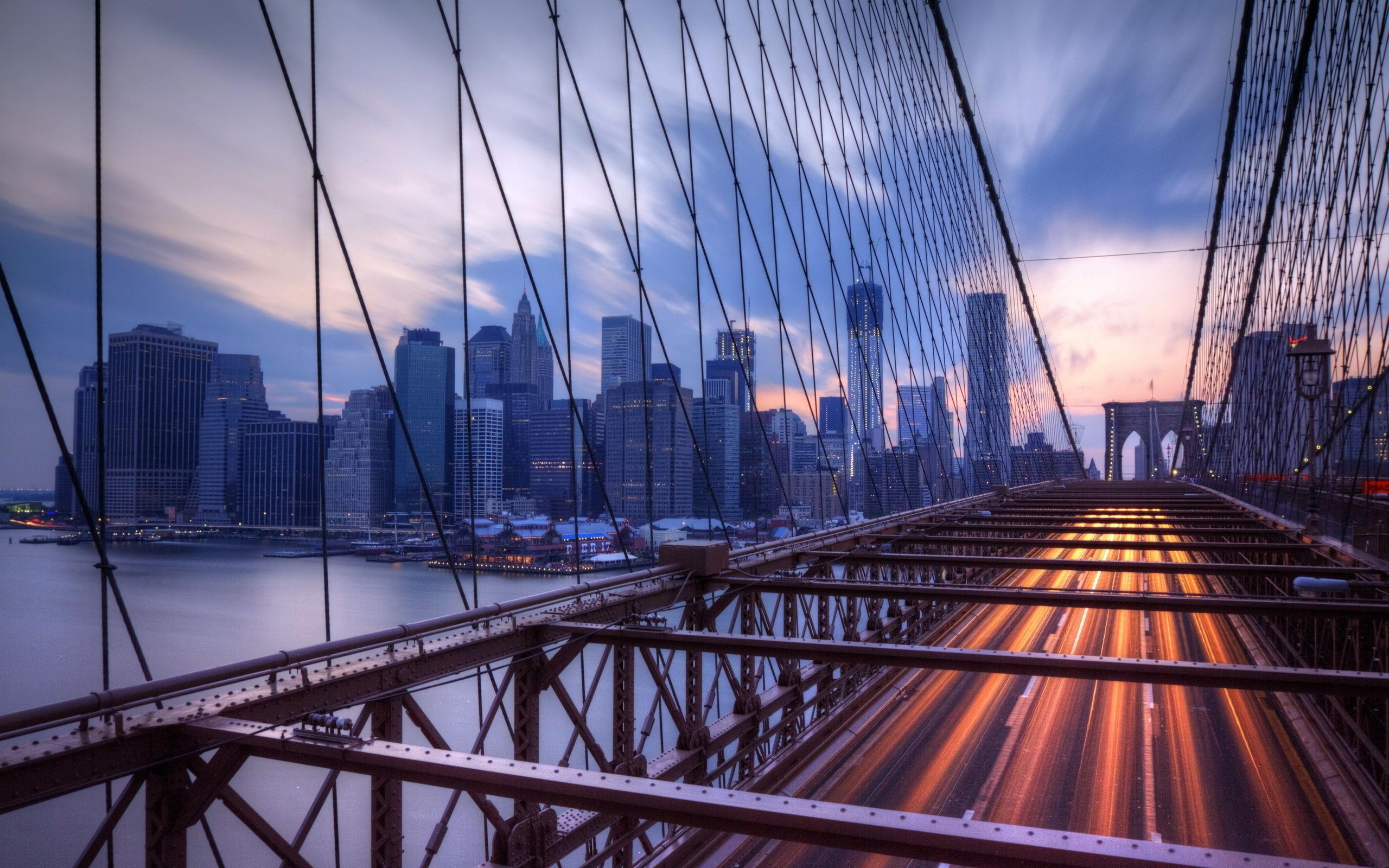 Нью-Йорк закат мост загрузить