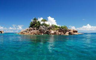 Бесплатные фото небо,облака,остров,море,океан,вода,волны