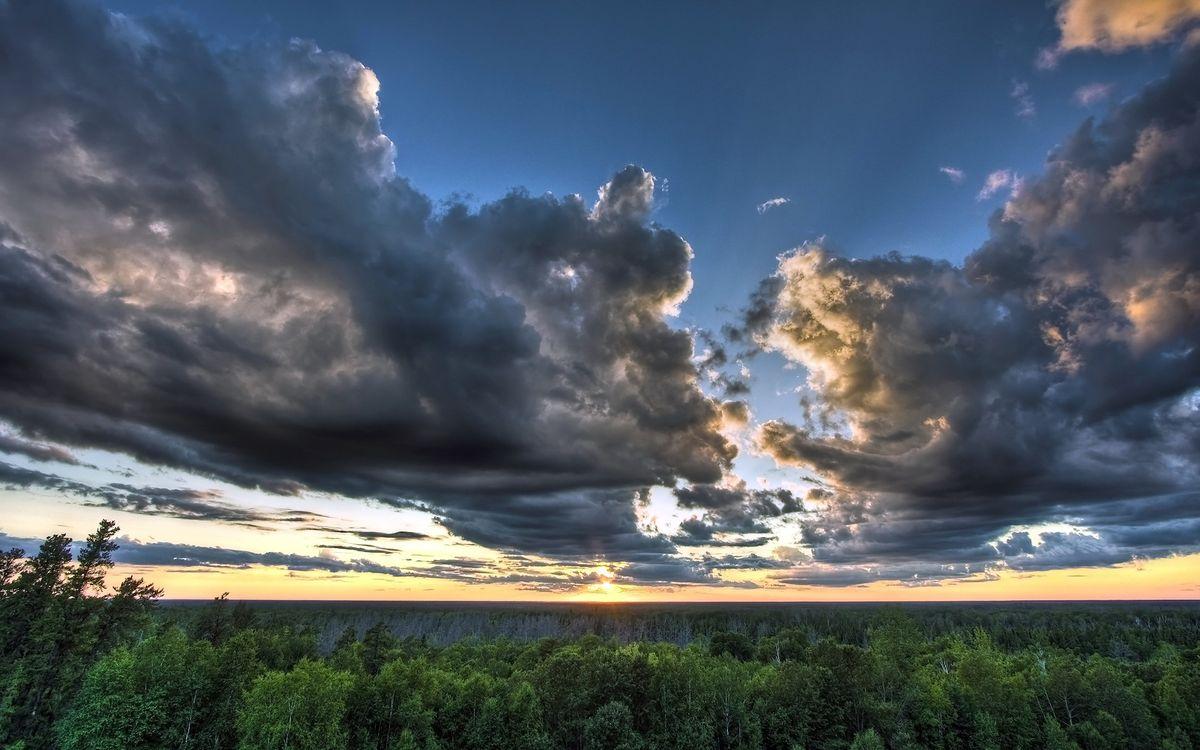 Фото бесплатно небо, тучи, осень - на рабочий стол