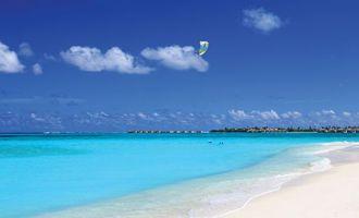 Бесплатные фото океан,вода,песок,небо,лето,жара,горизонт