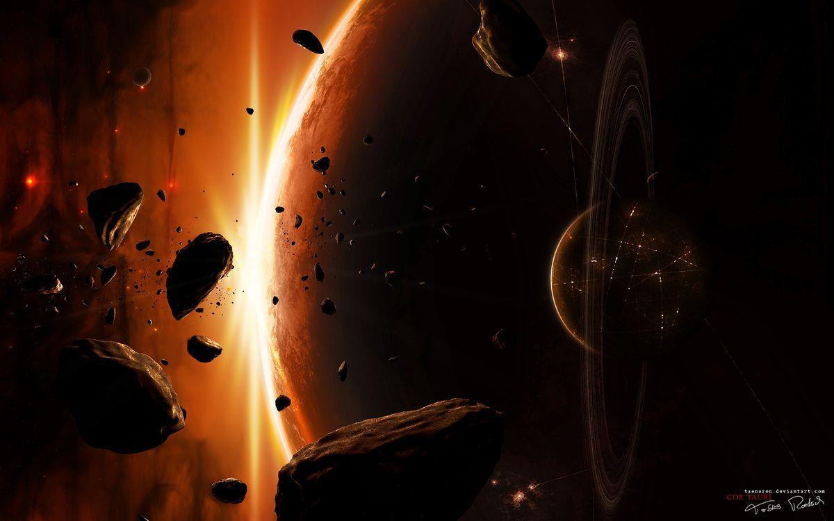 Фото бесплатно планета, астероиды, юпитер - на рабочий стол