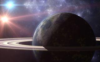 Фото бесплатно планета, кольцо, звезды