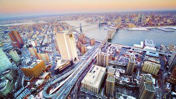 Бесплатные фото река,мосты,улицы,дороги,машины,дома,здания