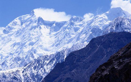 Photo free snow, peak, hills