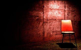 Photo free chair, shadow, wall