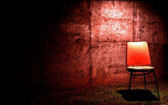 Фото бесплатно стул, тень, стена