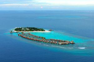 Фото бесплатно тропики, Мальдивы, бунгало