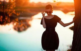 Фото бесплатно черный, платье, вечернее