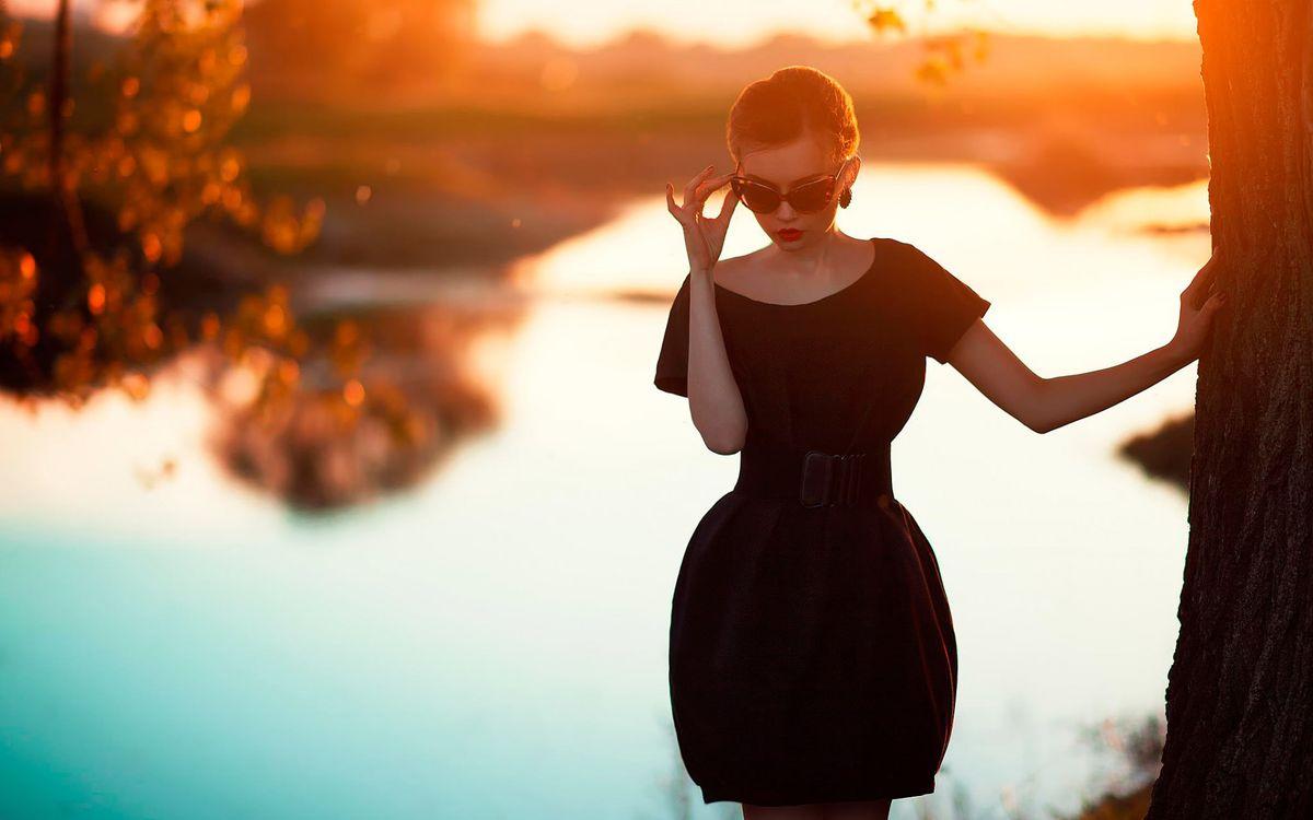 Фото бесплатно черный, платье, вечернее - на рабочий стол