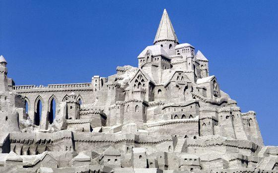 Фото бесплатно замок, серый, необычный