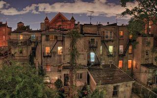 Фото бесплатно здания, окна, свет