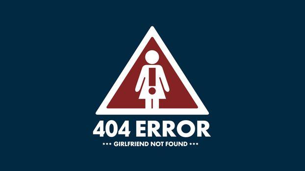 404, ошибка, знак, человек, девушка